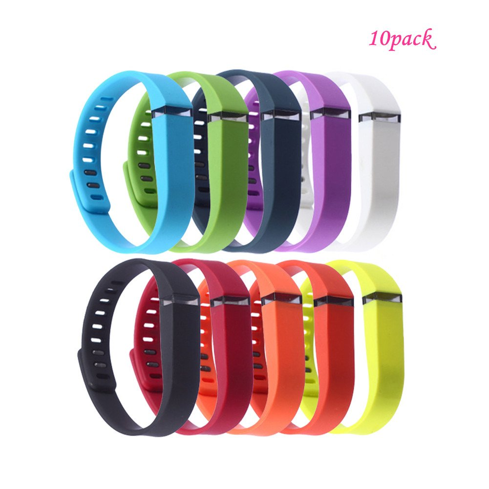 riyueming Compatible for Fitbit Flex Wristband,Replacement Accessory with Metal Clasp for Fitbit Flex Bracelet Sport Arm Band No Tracker 10PCS-Large- 10.99, Large