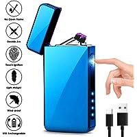 KIMILAR Mechero Eléctrico, Encendedor Eléctrico USB Recargable Doble