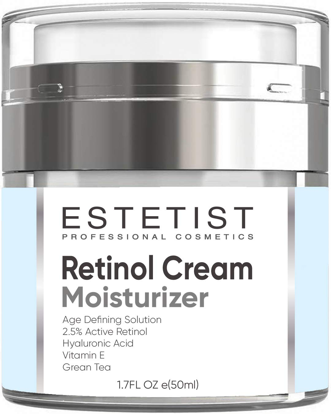 Face Moisturizer Retinol Cream for Day & Night with Hyaluronic Acid - Best Facial Age Defying Solution for Anti Aging, Wrinkles & Fine Lines to Restore Elasticity With SPF
