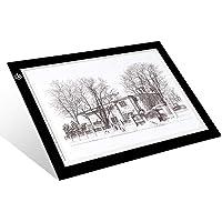 A4 Tracing Light Box - LitEnergy 9x12 pollici Light Pad Ultra-sottile solo 5mm tavolino di alimentazione USB per gli artisti, disegnare, disegnare, animazione