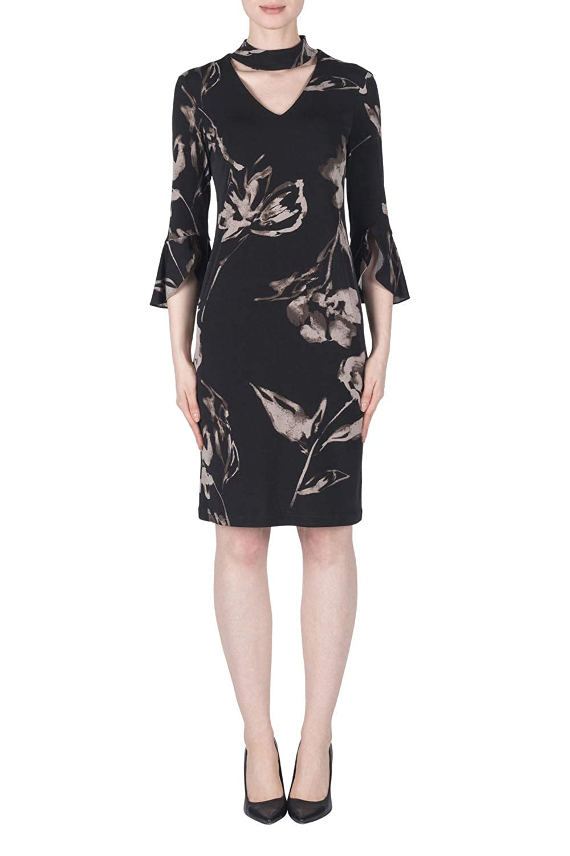 Joseph Ribkoff  183560 Woman's Choker Neckline Printed Dress