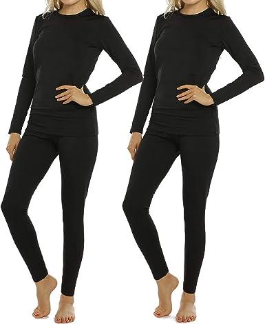 Amazon Com 2 Juegos De Ropa Interior Termica Para Mujer Conjunto De Pantalones Largos Con Forro Polar Y Camisa Para Capa Base Clothing