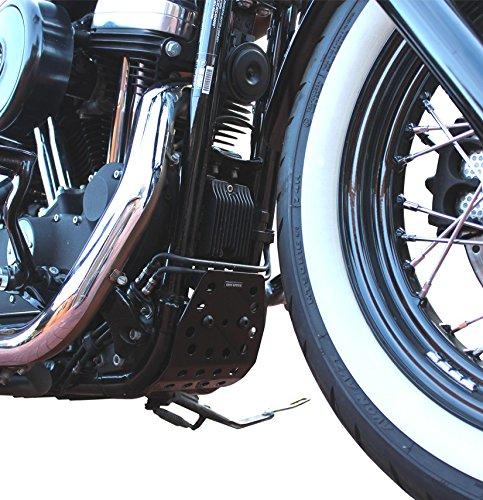 Iron Optics Motorrad Motorschutz Bugspoiler Custom 4, Farbe:schwarz glänzend;Motorradmodell:Harley Davidson Forty-Eight: Amazon.es: Coche y moto