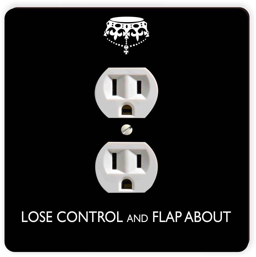 Rikki Knight Lose Control and Flap About SM Black Color Single Outlet Plate