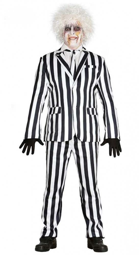 shoperama Beetlejuice Disfraz para Hombres de Negro de Color Blanco Hawaï 0199795 Traje Jacket Espíritu Poltergeist Exorcista Halloween: Amazon.es: Juguetes ...