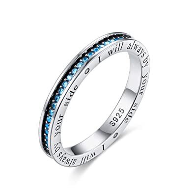 I Will Always by Your Side Love Ewigkeit Band Ring in Antik Sterling ...