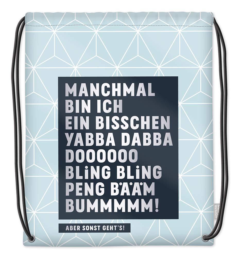 Grafik Werkstatt Gute Laune Sporttasche, Beige - 62025