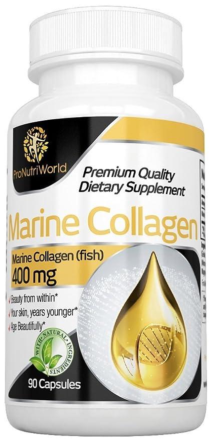 Colágeno Marino por ProNutriWorld 400mg | Producto 100% Natural- Cuidado de la Piel de