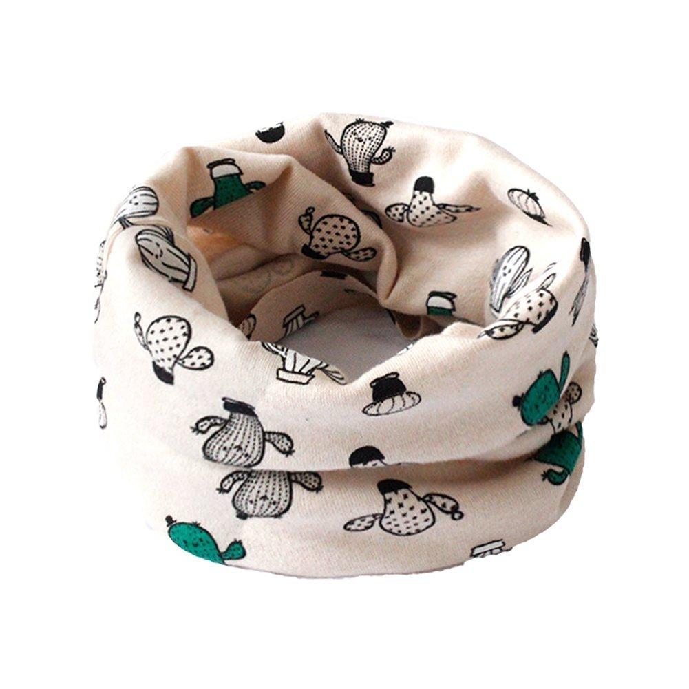 VI. Yo Kinder Halstuch Kinder Mädchen Jungen Baumwolle Hals Schals Multi Verwenden Halswärmer Schal Mütze Bandana, baumwolle, rose, 40*20cm Vi.yo