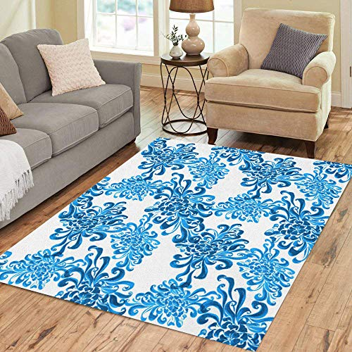 Exotica Collection (Semtomn Area Rug 3' X 5' Flowers and Leaves of Chrysanthemum Autumn Composition Use Printed Home Decor Collection Floor Rugs Carpet for Living Room Bedroom Dining Room)
