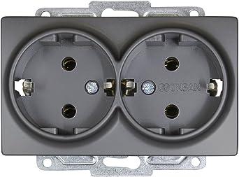 Gunsan Visage 2-fach Schalter Serienschalter Unterputz Dunkelsilber 250103