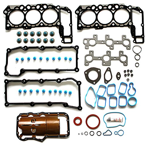 ECCPP Replacement for Full Head Gasket Sets for Dodge Dakota Jeep Liberty 2002-2005 3.7L Automotive Replacement Engine Full Gasket Head Kits
