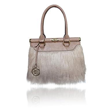 c607073c2fe DSUK Georgina Faux Fur Shoulder Bag in Mocha  Amazon.co.uk  Shoes   Bags