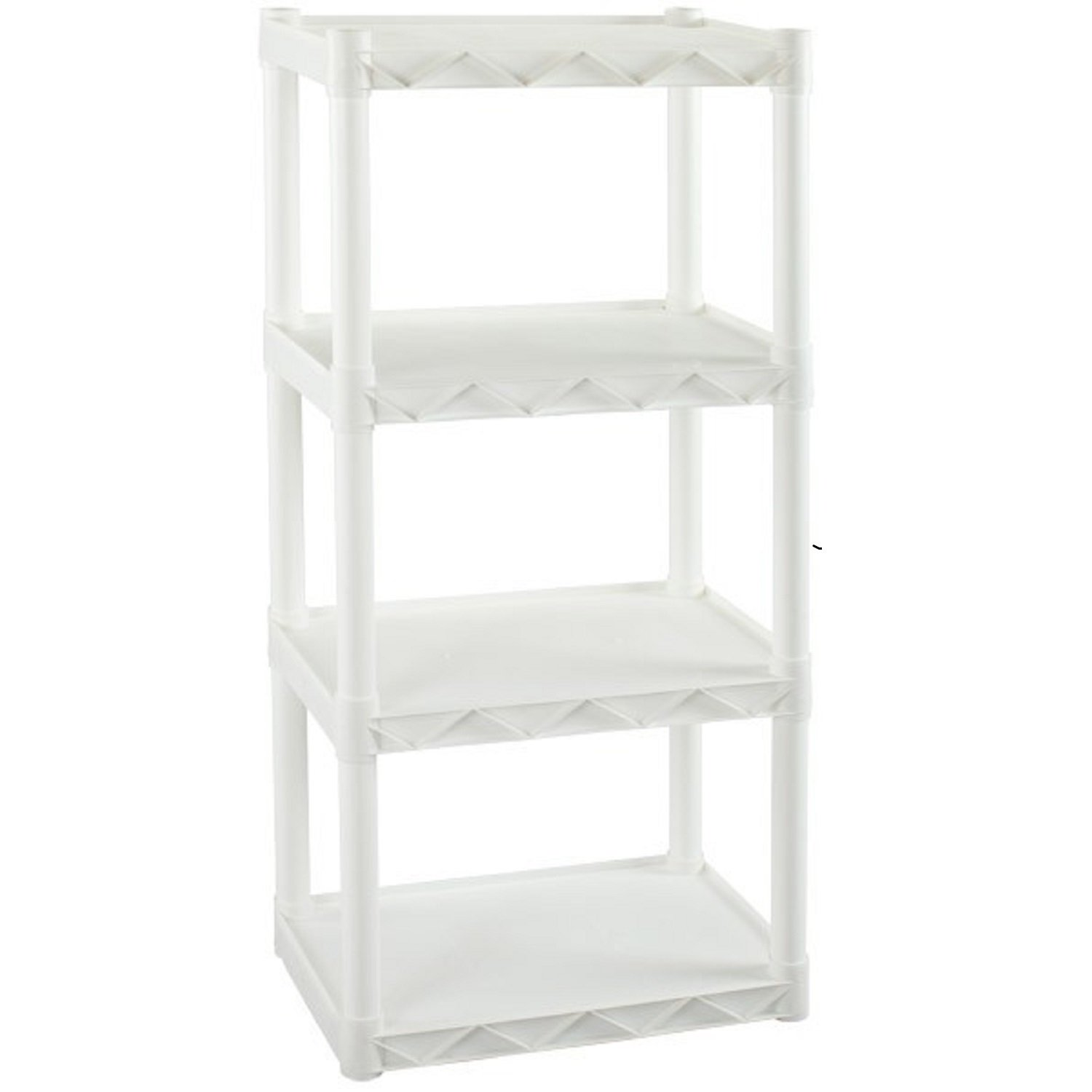 "Plano 917702 Molding 4 Shelf Shelving Unit, 22"" x 14.25"", White"