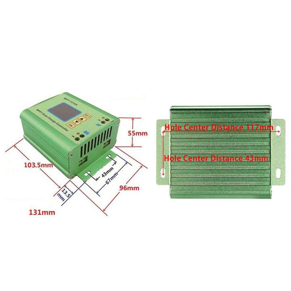 MPT-7210A MPPT panel solar regulador de bater/ía controlador de carga con pantalla LCD para bater/ía 24//36//48//60//72V