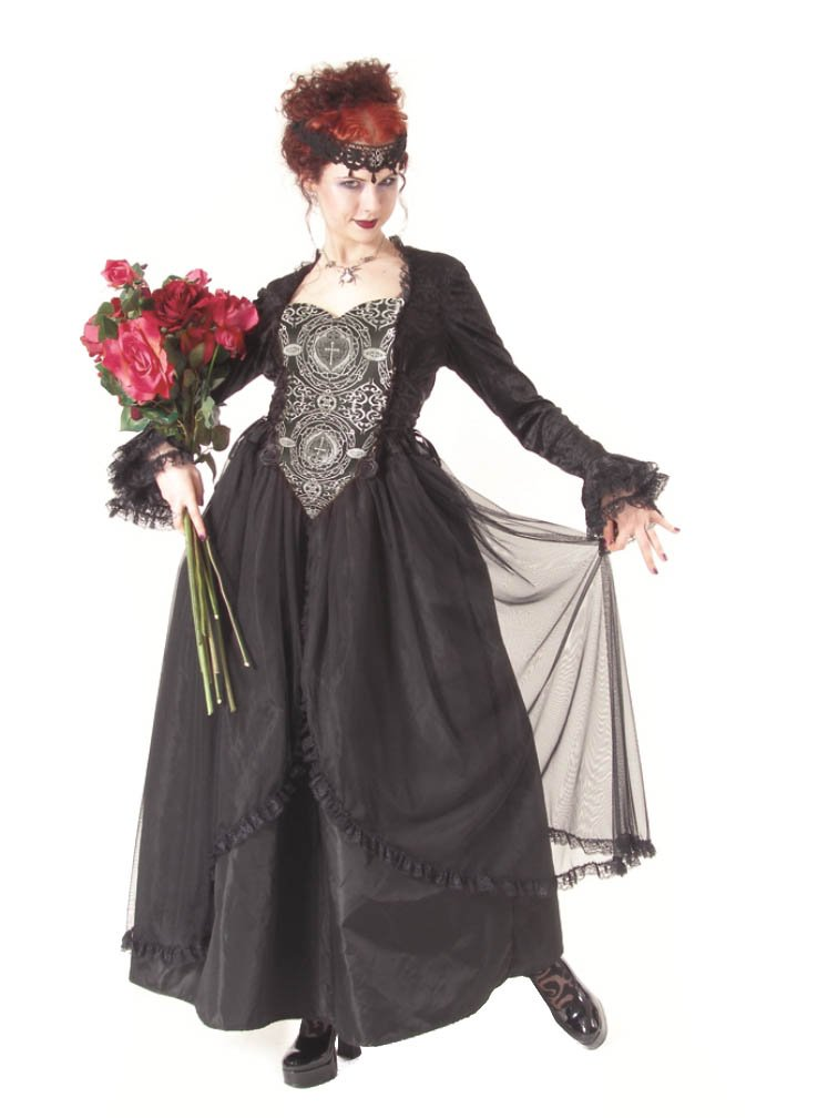 Eternal Love Plus Size Pewter Gothic Sacred Heart Belle Dame Wedding Gown Dress (2X)