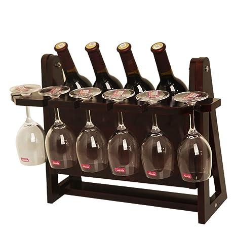 Estante para vinos Decoración de madera maciza Sostenedor de botella de vino para vino Soporte para