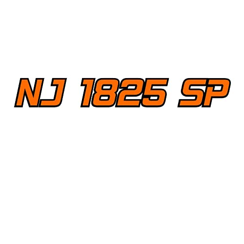 Custom Boat Registration Numbers With Outline - 2 Color, Pre-spaced Ready  to Apply (Set of 2) 3