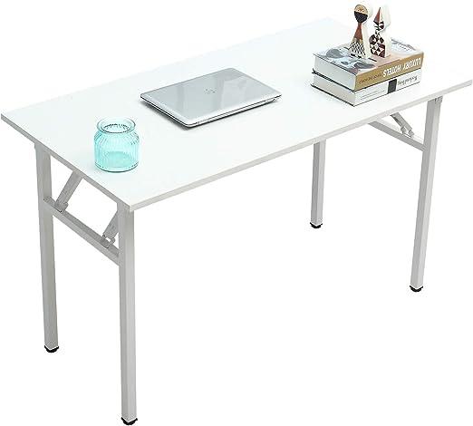 SogesHome Mesa de Escritorio Plegable para computadora 120 x 60 x ...