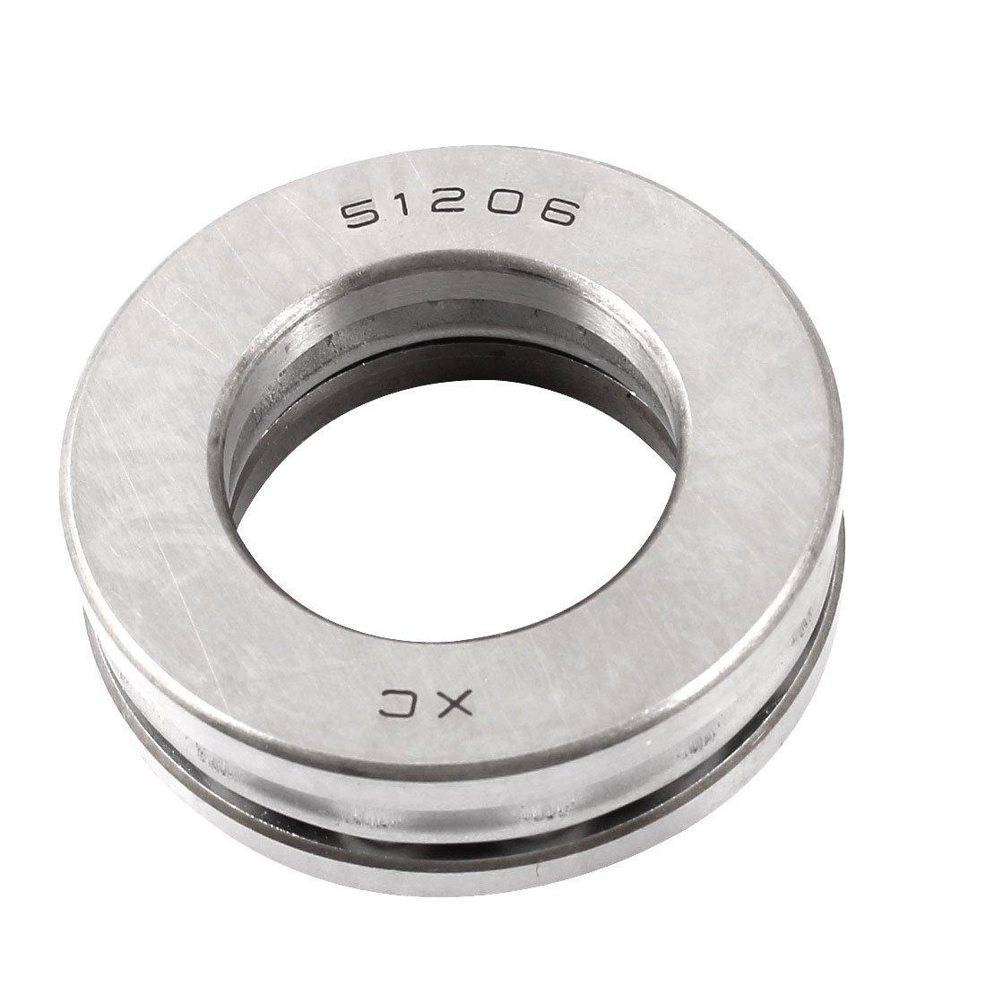 sourcingmap/® carbonio acciaio sfera spinta cuscinetto 51206 30mm x 52mm x 16mm
