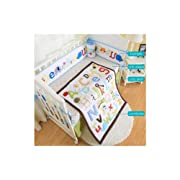 Embroidered Baby Cot Bedding Set Baby Cradle Cot Bedding Set,Include(Bumper