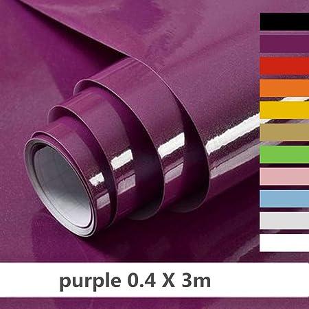 Hode Papier Adhesif Pour Meubles Cuisine Porte Mur Stickers Meuble 40cmx300cm Vinyle Autocollants Meuble Pourpre