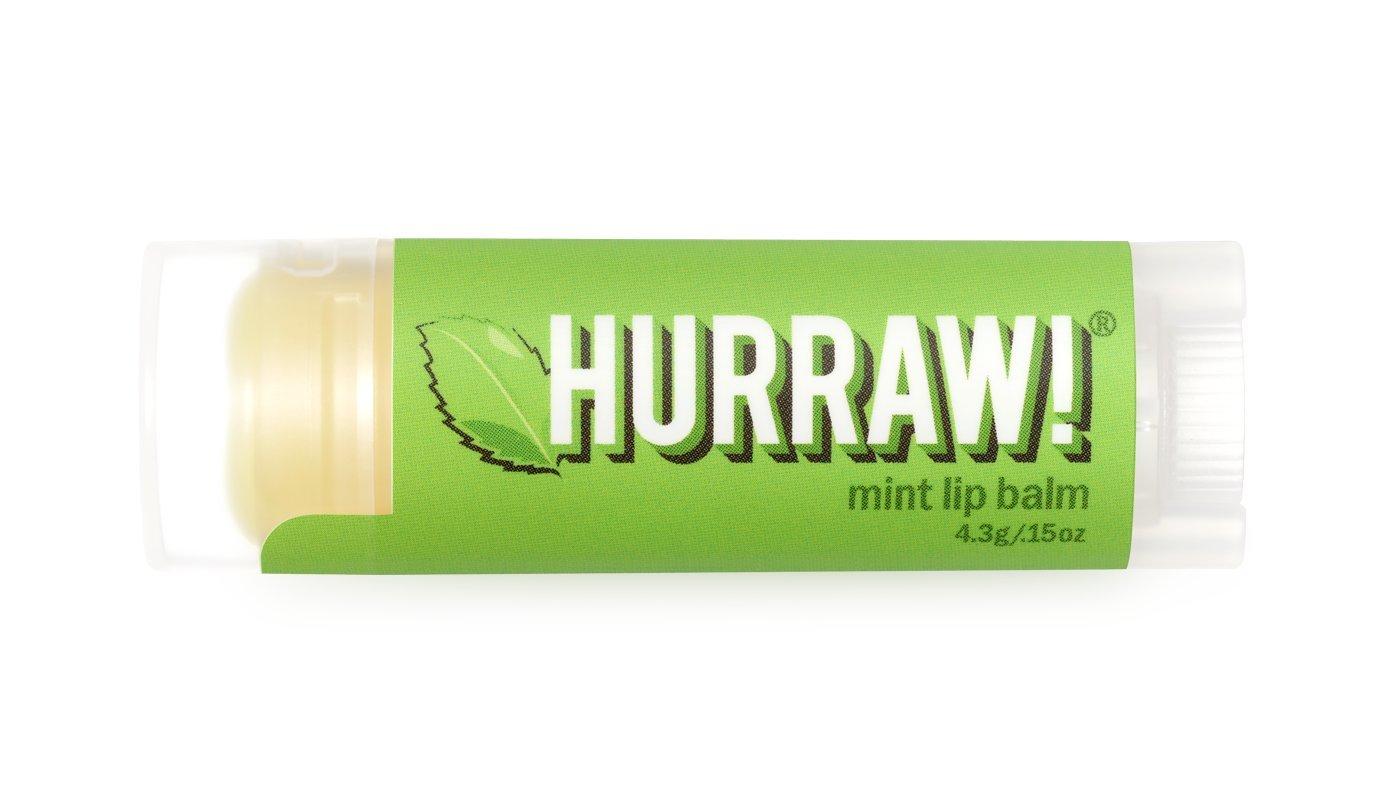 Mint Hurraw! Lip Balm: Organic, Certified Vegan, Certified Cruelty Free, GMO Free, Gluten Free, All Natural – Luxury Lip Balm Made in the USA – MINT