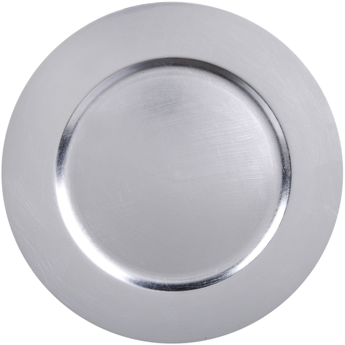 Palais Dinnerware 'Plaque De Charge' Collection - 13'' Elegent Charger Plate (12, Silver Leaf)