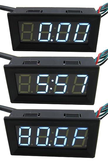 yeeco 3in1 0 56 dc 0 200v digital voltmeter voltage panel meter 67 rh amazon com