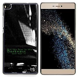 For HUAWEI P8 - Darkness Black White Fear Inspiring /Modelo de la piel protectora de la cubierta del caso/ - Super Marley Shop -