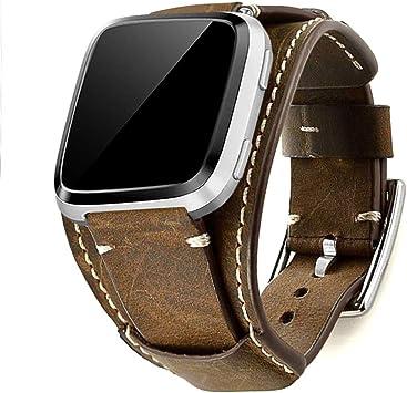 bracelet cuir fitbit versa