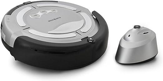 Klarstein Cleanfriend Basic - Robot aspirador con unidad de barrera virtual, color plateado: Amazon.es: Hogar