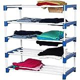 Novatic Heavy Duty Metal, Plastic Foldable Wardrobe (5 Shelves)