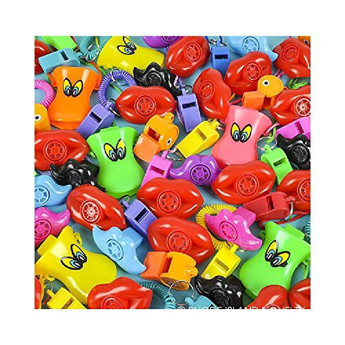 250 Pc 2-4'' Whistle Assortment by Bargain World