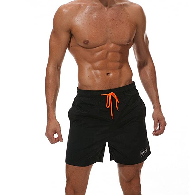 fe0a9f6254 TenMet Men's Quick Dry Beach Boardshorts Mesh Lining Swim Trunk Casual  Jogging Yoga Water Surf Training