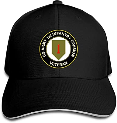 US Army Veteran 1st Infantry Division Fashion Adjustable Cowboy Cap Baseball Cap for Women and Men