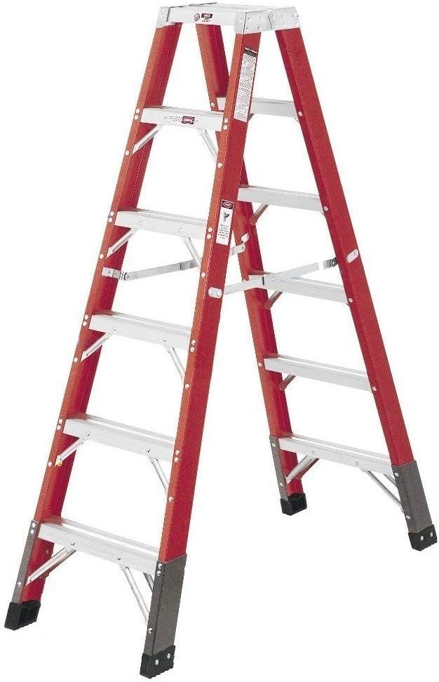 Escaleras avanzadas FT2406 de fibra de vidrio de doble cara, escalera tipo 1 AA 375 libras de resistencia, 6 pies: Amazon.es: Bricolaje y herramientas