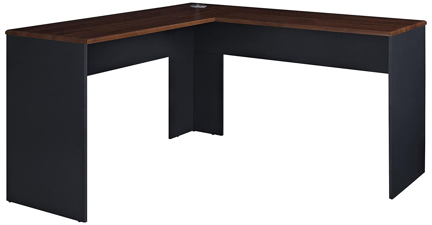 Ameriwood Home The Works L-Shaped Desk, Cherry Dorel Home Furnishings 9843096