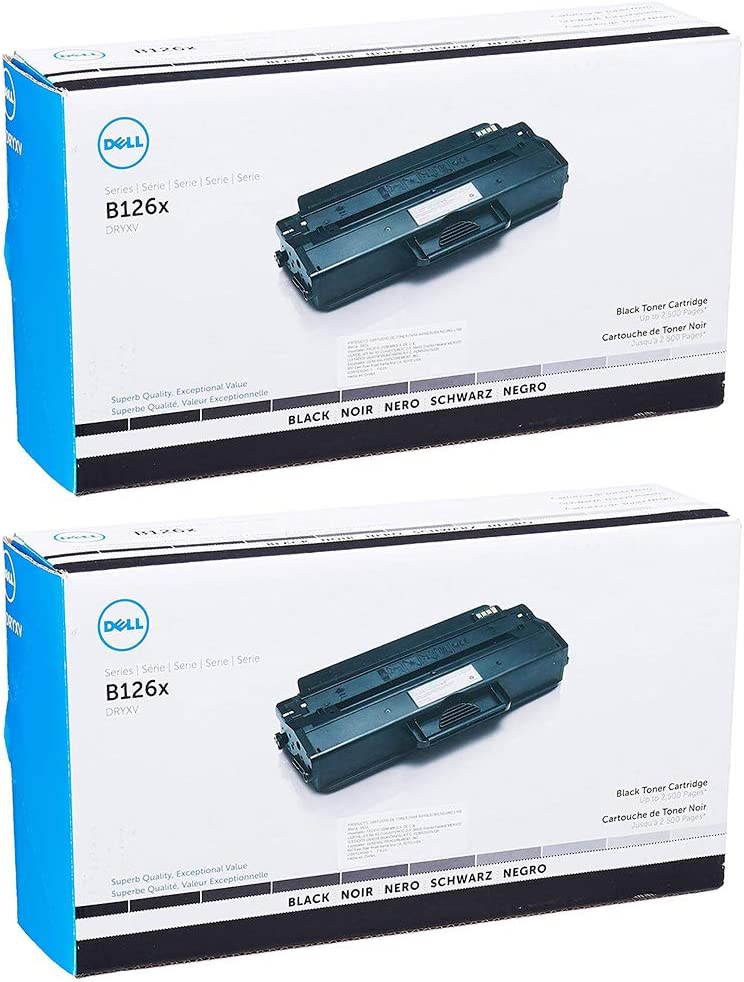 Dell DRYXV High Yield Black Toner Cartridge 2-Pack for B1260dn, B1265dnf, B1265dfw Printers