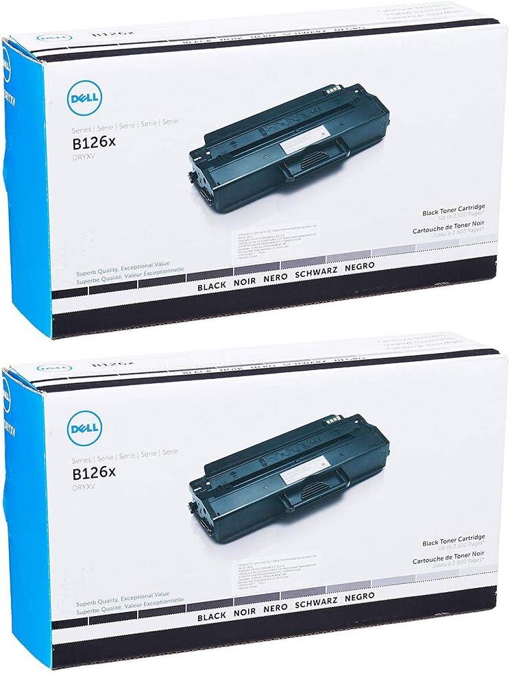 Dell DRYXV High Yield Black Toner Cartridge 2-Pack for B1260dn, B1265dnf, B1265dfw Printers