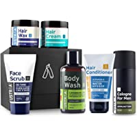 Ustraa Gift  For Men with Hair Wax, Hair Conditioner, Hair Cream, Face Scrub D-tan, Body wash and Cologne