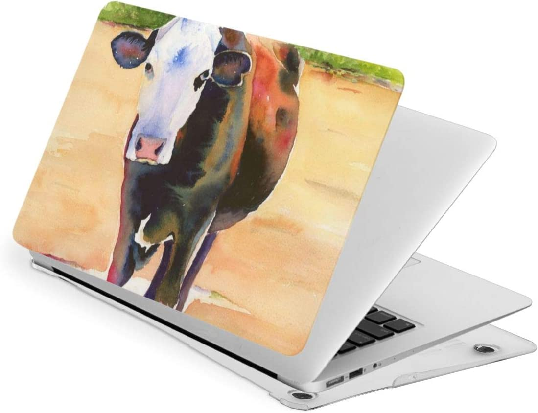 Farm Animals Watercolor Cow Cattle Compatible with MacBook Air 13 Inch 2020 2019 2018 New Version A1932 A2179 Case,Plastic Hard Shell Case Cover for Mac Air 13 with Retina Display and Touch Id