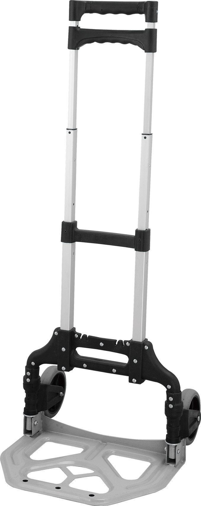 idée PHT01SB Portable 150 lb Capacity Aluminum Folding Hand Truck/Dolly, Black