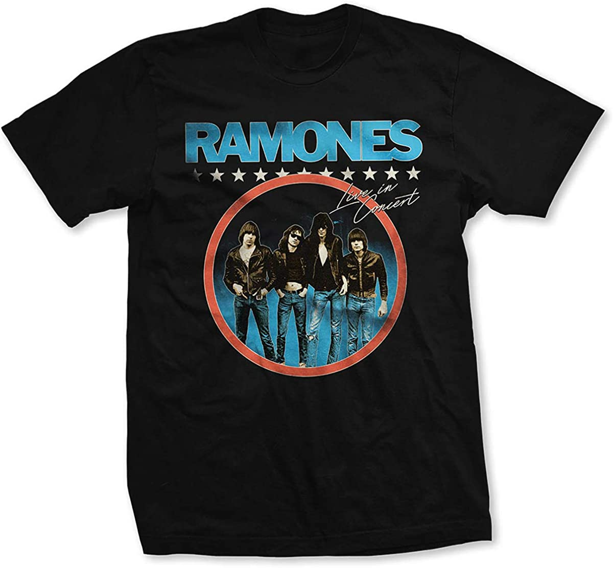 The Ramones Live in Concert Official Tee T-Shirt Mens Unisex