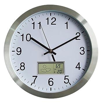 Wanduhr Thermometer Funk, LoKauf 12 Zoll/30CM Wanduhr Wohnzimmer ...