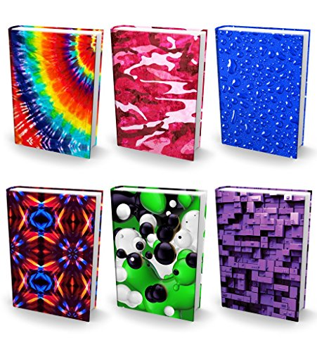 - Book Sox Stretchable Book Covers - Bundle of 6 Durable Hardcover Protectors For 9