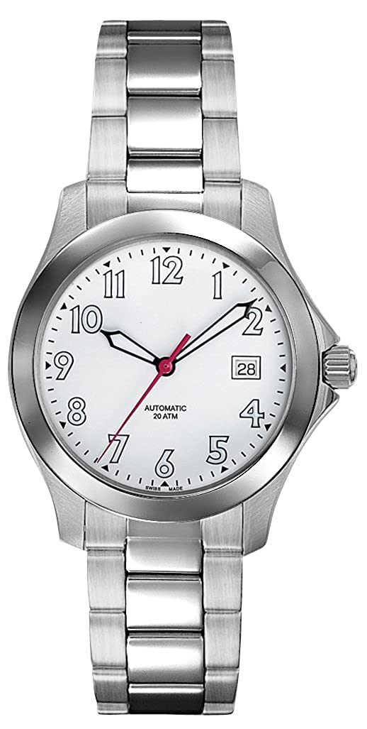 Amazon.com: Belair Swiss Made Automatic 20 ATM Mens White Dial Watch: Belair: Watches
