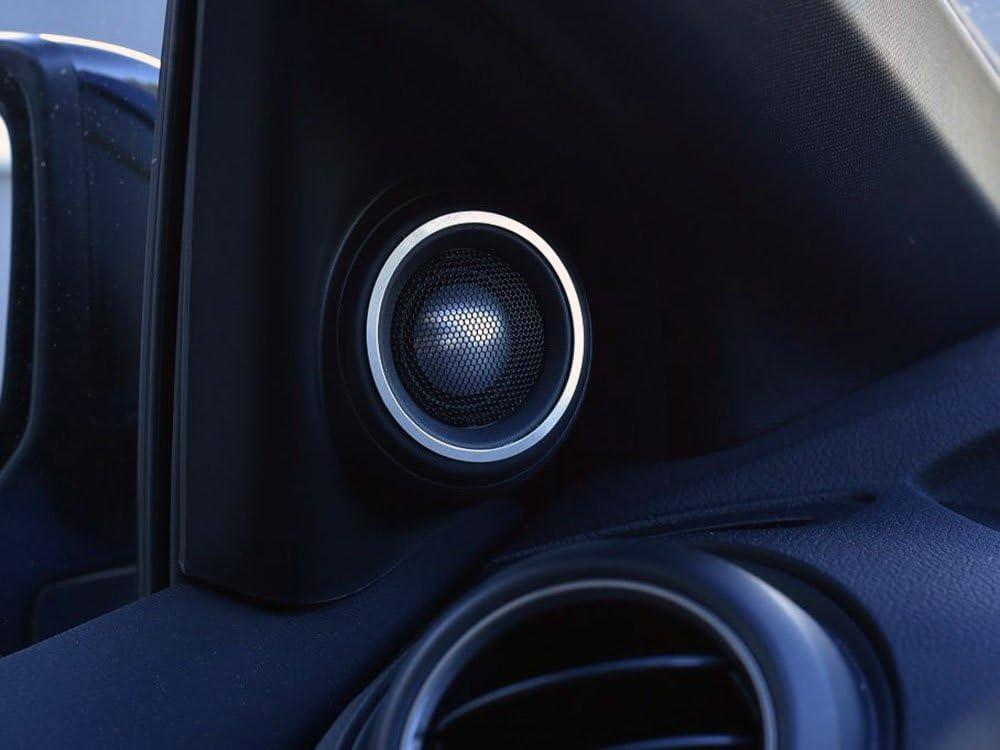 Interieur Stahlabdeckung Für Civic Ix Und Type R Iv Fk2 2 Stück Lautsprecher Tweeter Ringes Rahmen Edelstahl Gebürstet Blenden Cockpit Dekor Mass Angefertigt Auto