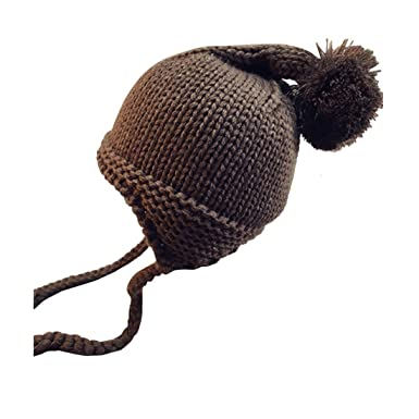 55d3a9becb2 Longra Chapeau Tricoté Bébé Garçon Fille Bonnet de laine Hiver Chaud Un  bonnet à pompons Bobs