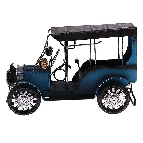 Kesoto - Modelo de coche antiguo de metal con ornamentos de hierro ...